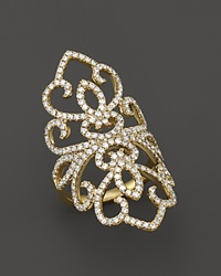 Bloomingdale's Diamond Statement Ring In 14K Yellow Gold 1.60 Ct. T.W. White Gold
