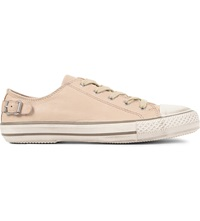 Kurt Geiger Liberty Leather Trainers Nude