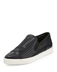 Vince Paeyre Perforated Cap Toe Skate Sneaker Black