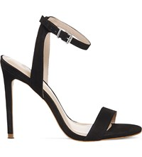 Office Alana Leather Heeled Sandals Black Nubuck