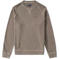 Barbour Garment Dyed Crew Sweat Grey