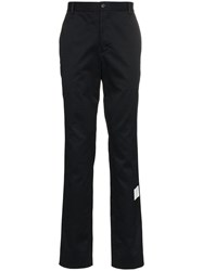 Thom Browne Logo Patch Tailored Trousers Blue