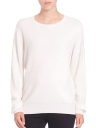Equipment Shane Sequin Crewneck Sweater Ivory