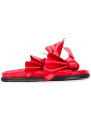 Cedric Charlier Knotted Strap Sandals Red