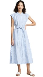 Ayr The Sunset Dress White Blue Stripe