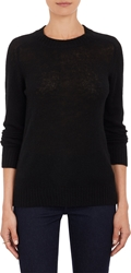 Barneys New York Loose Knit Pullover Sweater Black