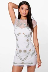 Boohoo Embellished Bodycon Dress Mint
