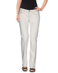 Dandg Denim Denim Trousers Women Ivory
