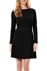 Laundry By Shelli Segal Fit And Flare Sweater Dress Black