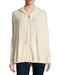 Minnie Rose Cashmere Zip Front Hoodie Sweater Pearl Jam