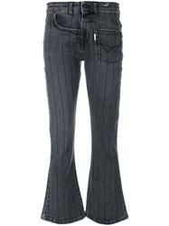 Filles A Papa Twisted Flared Jeans Cotton Polyester Spandex Elastane Black