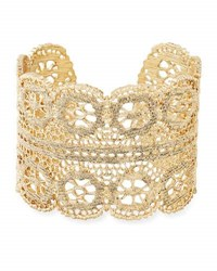 Lydell Nyc Filigree Unique Cuff Bracelet Gold