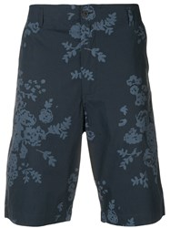 Universal Works Flower Print Shorts Blue