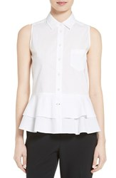 Kate Spade Women's New York Sleeveless Ruffle Shirt