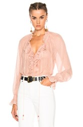 Roberto Cavalli Woven Blouse In Pink