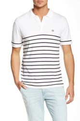 Ag Jeans Green Label The Sebastian Short Sleeve Polo White