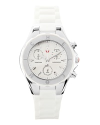 Michele Tahitian Jelly Bean Watch White Silver