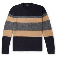 Todd Snyder Colour Block Knitted Sweater Blue