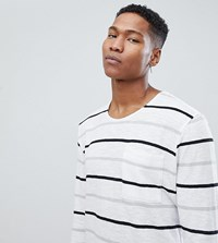Noak T Shirt In Stripe With Long Sleeves White