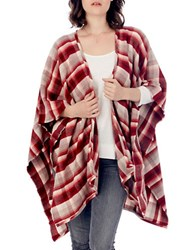 Alternative Apparel Oversized Blanket Wrap Red Plaid