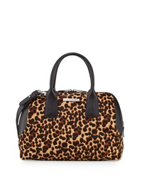 Charles Jourdan Dacey Leopard Print Calf Hair Satchel