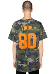 Les Artists Virgil Camo Print Cotton Jersey T Shirt