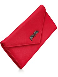 Folli Follie Saffiano Envelope Wallet Red