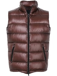 Herno Classic Down Gilet Polyamide Polyester Goose Down Brown
