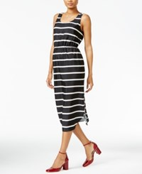 Maison Jules Striped Midi Dress Only At Macy's Egret Combo