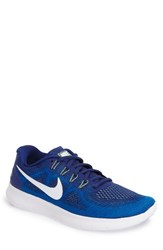 Nike Men's Free Run 2017 Running Shoe Royal Blue White Green