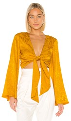 House Of Harlow 1960 X Revolve Selena Top In Yellow. Mustard
