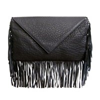 Jess Rizzuti New York Ella Fringe Envelope Clutch Gold