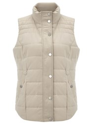 Dash Stone Peached Padded Gilet Neutral