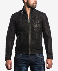Affliction Men's Midnight Hour Leather Jacket Black