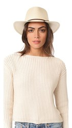 Rag And Bone Packable Straw Fedora Natural