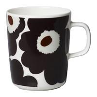 Marimekko Oiva Unikko Mug Beige Dark Grey Brown