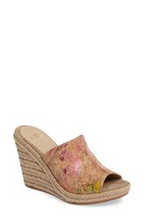 Johnston And Murphy Women's Myrah Wedge Slide Sandal Natural Cork