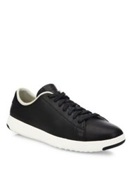 Cole Haan Grand Pro Tennis Leather Sneakers Black White