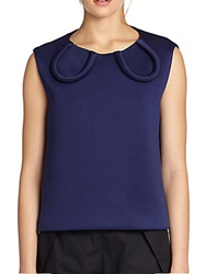 A Detacher Scuba Top Blue