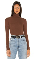 N Philanthropy Brooke Bodysuit In Brown. Chocolate