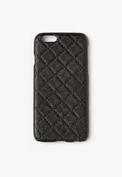 Missguided Black Faux Leather Quilted Iphone 6 Case