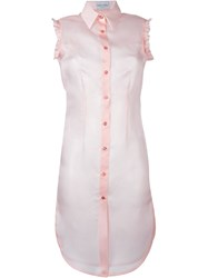 Daizy Shely Long Sheer Sleeveless Shirt Pink And Purple