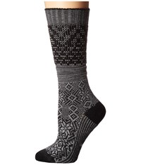 Smartwool Snowflake Flurry Charcoal Heather Women's Knee High Socks Shoes Gray