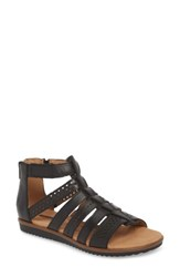 Clarks Kele Lotus Sandal Black Leather
