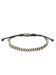 Paul Smith Silver And Cotton Bracelet