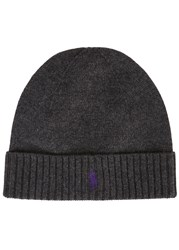 Polo Ralph Lauren Grey Merino Wool Beanie