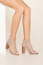 Forever 21 Faux Suede Cutout Heels