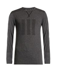 Adidas By Day One Seamless Crew Neck Long Sleeved T Shirt Grey