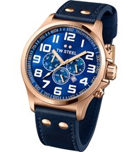 Tw Steel Tw407 Pilot Rose Gold Chronograph Watch