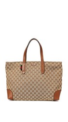Wgaca What Goes Around Comes Around Gucci Canvas Tote Previously Owned Brown